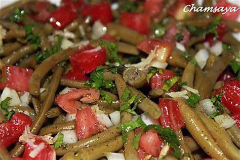 cuisiner des haricots verts frais recette de salade de haricots verts et tomates