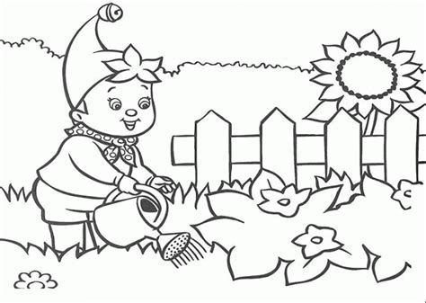 gardening pictures to colour garden coloring page images for kids coloring home