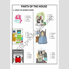Parts Of The House  Esl Worksheet By Lovely15