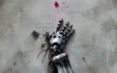 Robot Broken Arm Anime Hand Wallpapers Fantasy