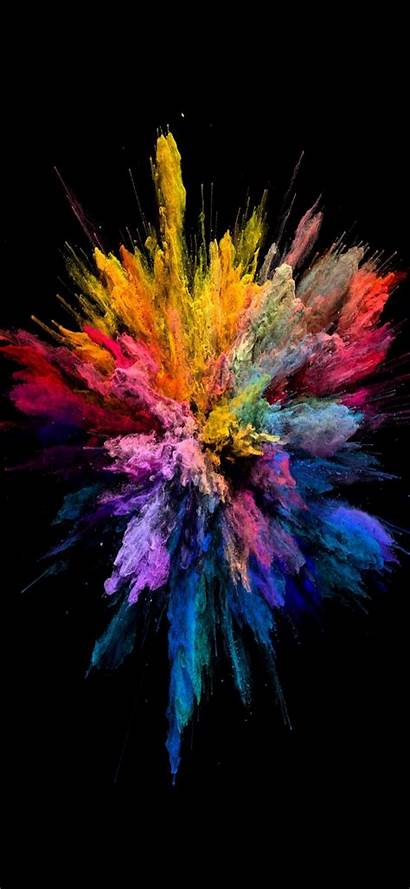 Explosion Burst Colorful Iphone Wallpapers Colors Backgrounds