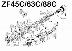 Zf 45c 63c 88c Marine Transmission Repair  U0026 Parts Manual