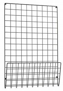 Grille Murale Deco : rangement mural mesh porte revues l 50 x h 72 5 cm noir house doctor ~ Teatrodelosmanantiales.com Idées de Décoration