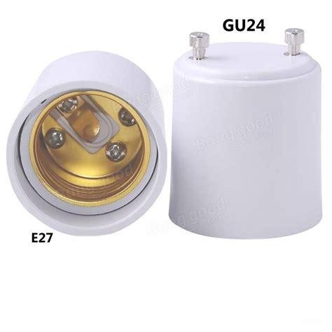 gu24 to e27 led light base bulb l holder adapter socket