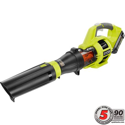 cordless leaf blower with battery and charger ryobi 110 mph 480 cfm variable speed 40 volt lithium ion