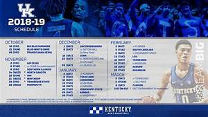 Kentucky Wildcats Basketball 2018 19 Schedule Channels Dates And Times A Sea Of Blue