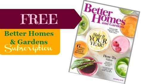 top 28 better homes and gardens magazine subscription