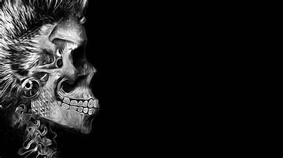 Skull Background Simple Artwork Digital Human Desktop