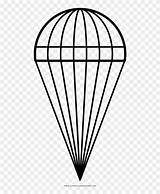 Parachute Line Coloring Pngfind sketch template
