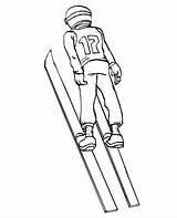 Coloring Winter Olympic Olympics Ski Printable Skiing Jumping Jump Jumper Skoki Narciarskie Druku Clip Sheets Skokach Clipart Library Printactivities Popular sketch template