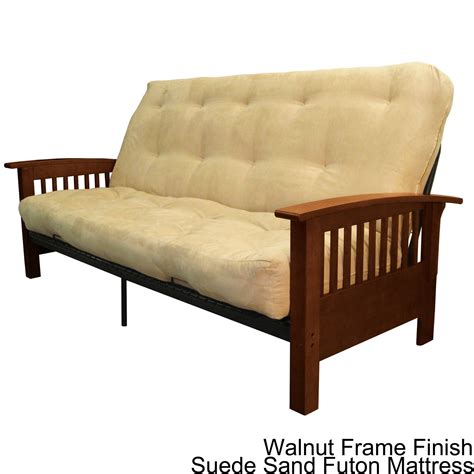 overstock futon brendan size mission style frame with inner