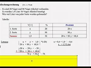 X Berechnen Rechner : mischungsrechnung 7 beispiele youtube ~ Themetempest.com Abrechnung