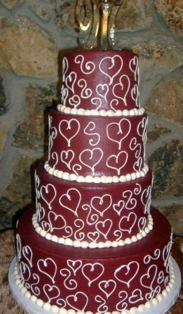 tier maroon wedding cakejpg kleurskema