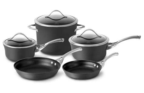 calphalon contemporary nonstick cookware set  piece cutlery