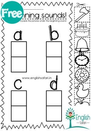 phonics beginning sounds abcd picture sort worksheet