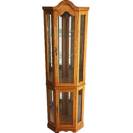 corner lighted curio cabinet corner lighted curio cabinet golden oak walmart