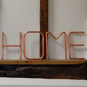 copper pipe home wall letters by copper hall With copper letters for wall