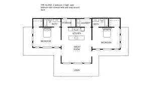 simple one bedroom house plans the aloha 2 2 split bedroom floor plan