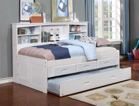 Day Beds With Drawers by Discovery World Furniture White Captain Day Beds With