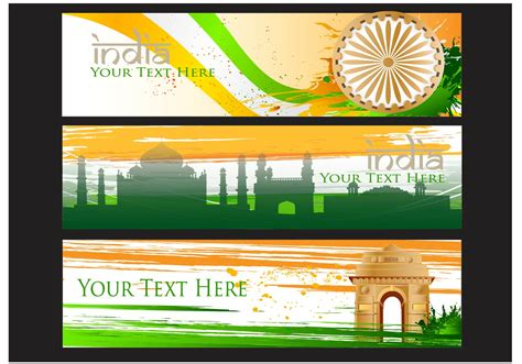 india gate vector banner background   vector