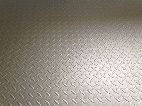 Used 18 Mtr Roll Silver / Grey Chequer Plate Industrial