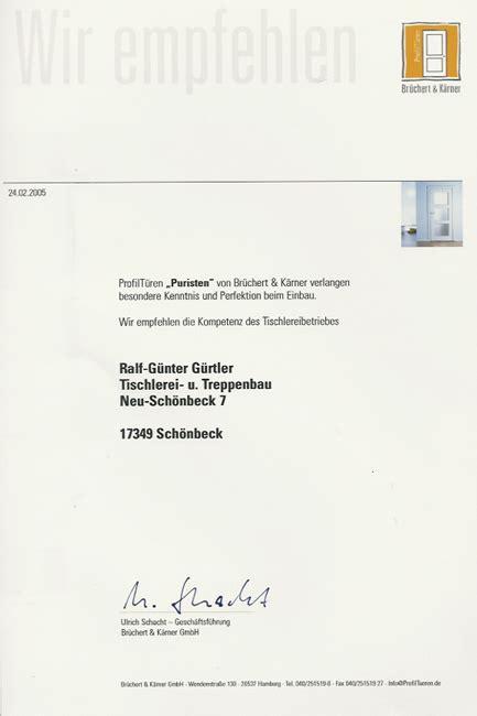 Brüchert Und Kerner innenausbau zertifikate treppen neubrandenburg altentreptow