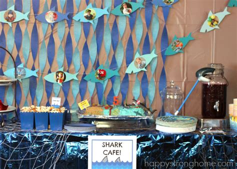 shark birthday party ideas  kids happy strong home