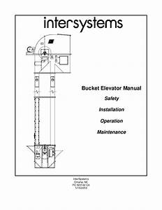 Pdf  Bucket Elevator Manual Safety Installation Operation