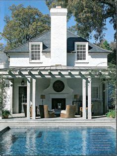 pool house  situated   edge   patio   hill  house remodeling