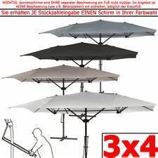 Sonnenschirm 4m Mit Kurbel : sonnenschirm rechteckig 3x4 g nstig kaufen ebay ~ Eleganceandgraceweddings.com Haus und Dekorationen