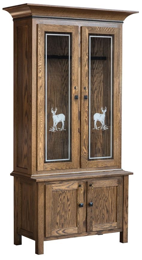 Wooden Gun Cabinets by American Easton Wooden Gun Cabinet From Dutchcrafters