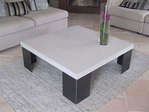 Table En Béton Ciré : table en beton cire pied en acier photo de beton cire ~ Premium-room.com Idées de Décoration