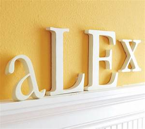 lowercase letters traditional wall letters by With pottery barn name letters