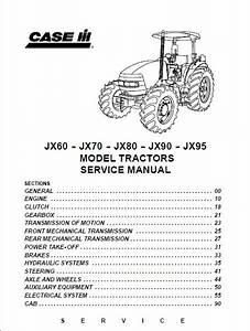 Case Ih Jx60 Jx70 Jx80 Jx90 Jx95 Tractor Service Manual