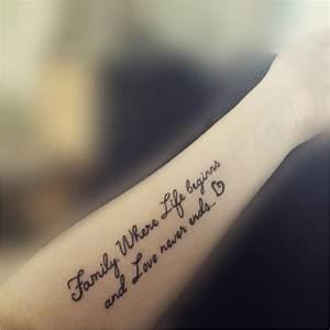 Tattoo Ideen Familie : tattoo schriften spruche schriftarten greenvirals style ~ Frokenaadalensverden.com Haus und Dekorationen