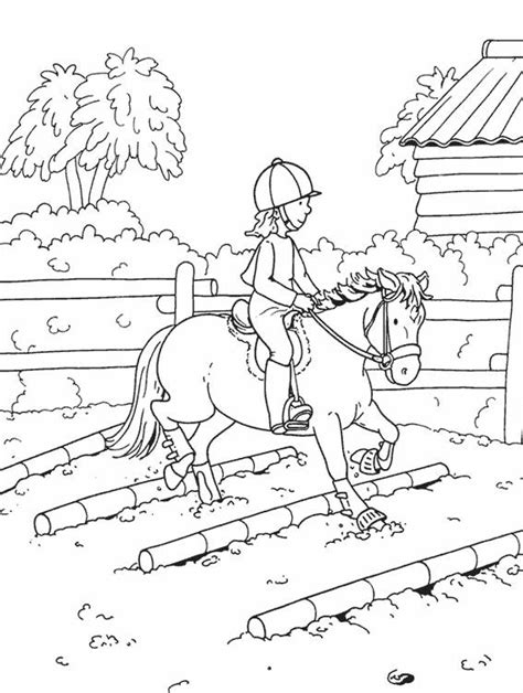 printable horse riding coloring pages