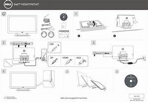 Dell P2714t P2314t  P2714t Monitor Quick Start Guide User