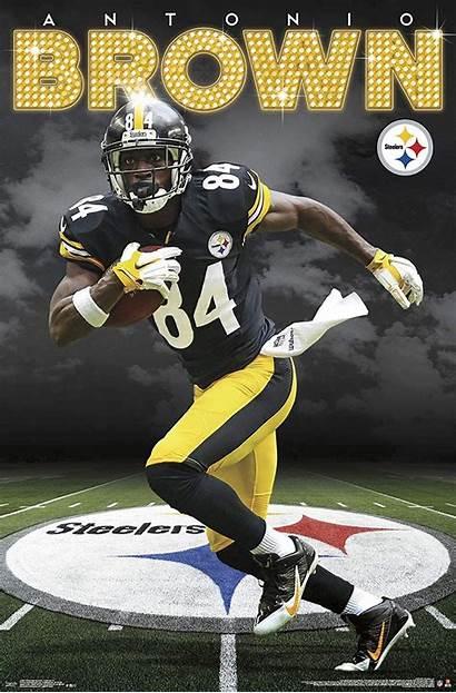 Steelers Pittsburgh Antonio Brown Nfl Poster Football