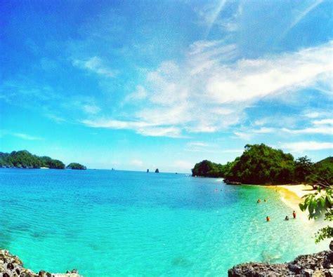 rute  lokasi pantai  warna pesona keindahan surga