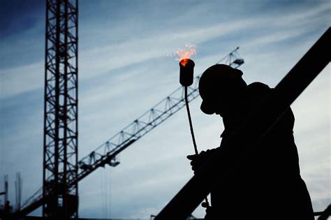 man  construction site  daytime  stock photo