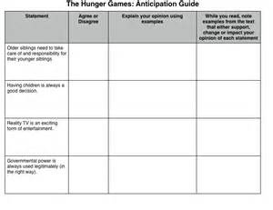 Anticipation Guide Lesson Template