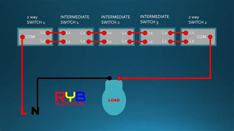 Intermediate Switch Way Connection Wiring Diagram