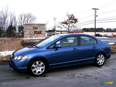2008 Atomic Blue Metallic Honda Civic Lx Sedan #26258465