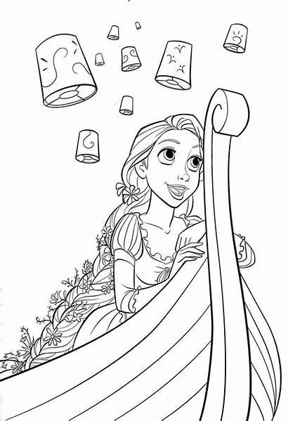 Rapunzel Tangled Disney Coloring Pages Printable Princess
