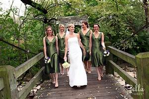 forest green bridesmaid dresses bridesmaids dresses With forest green wedding dress