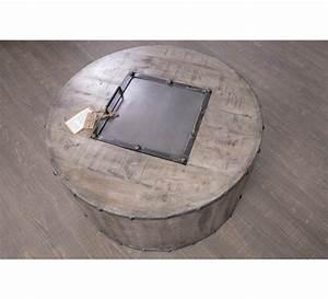 Table Basse Ronde Industrielle : table basse ronde de bar industrielle g teborg 7301 ~ Teatrodelosmanantiales.com Idées de Décoration