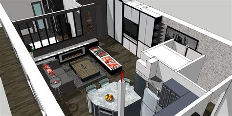 plan cuisine ouverte sur salon cuisine ouverte sur salle manger et salon amazing