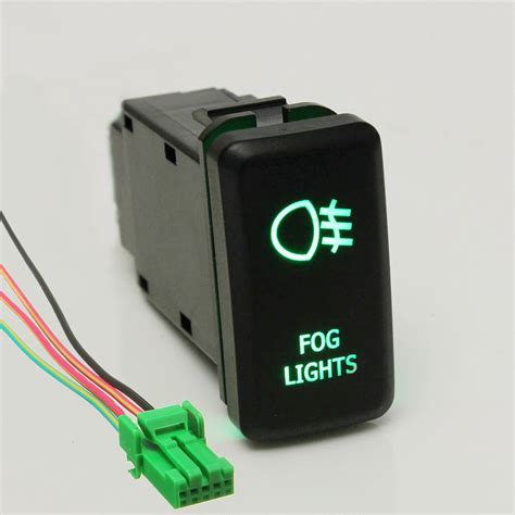 Led Fog Work Light Push Button Switch For Toyota