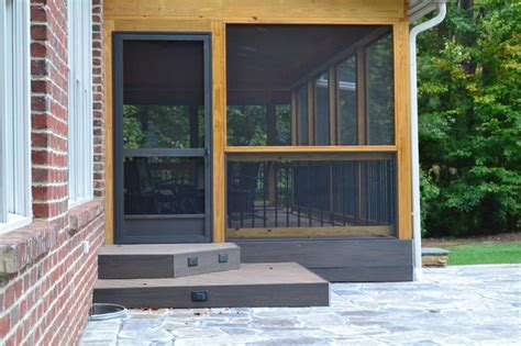 screened porch and patio in raleigh nc traditional