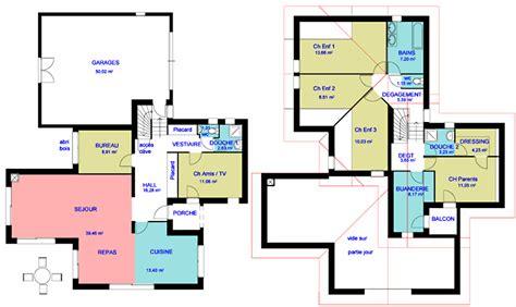 grande desserte cuisine plan de maison agencement du plan pieces et zones d 39 une